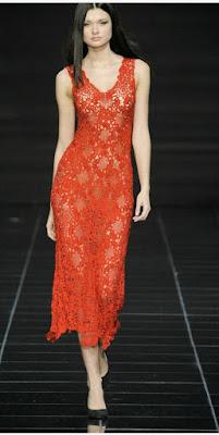 sukienka szydelkiem ze wzorem motywu