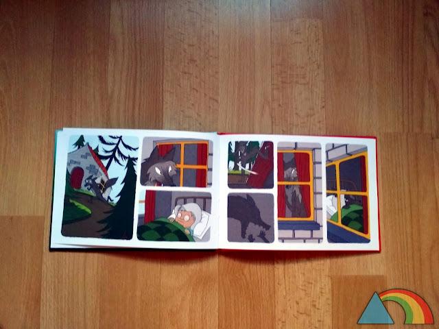 Libro sin texto de Caperucita Roja