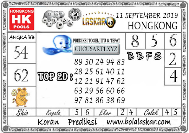 Prediksi Togel HONGKONG LASKAR4D 11 SEPTEMBER 2019