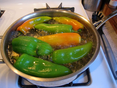 Boil, Sautee, chili relleno, anaheim chili pepper, stuffed peppers recipe, stuffed bell peppers