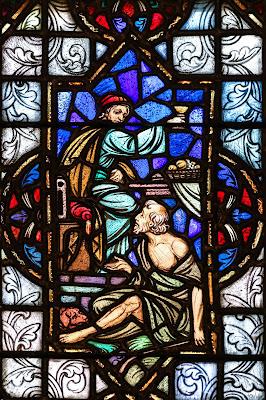 Imagem do rico e o lázaro, vitral, #2