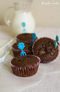 (Muffiny z budyniem i malinam