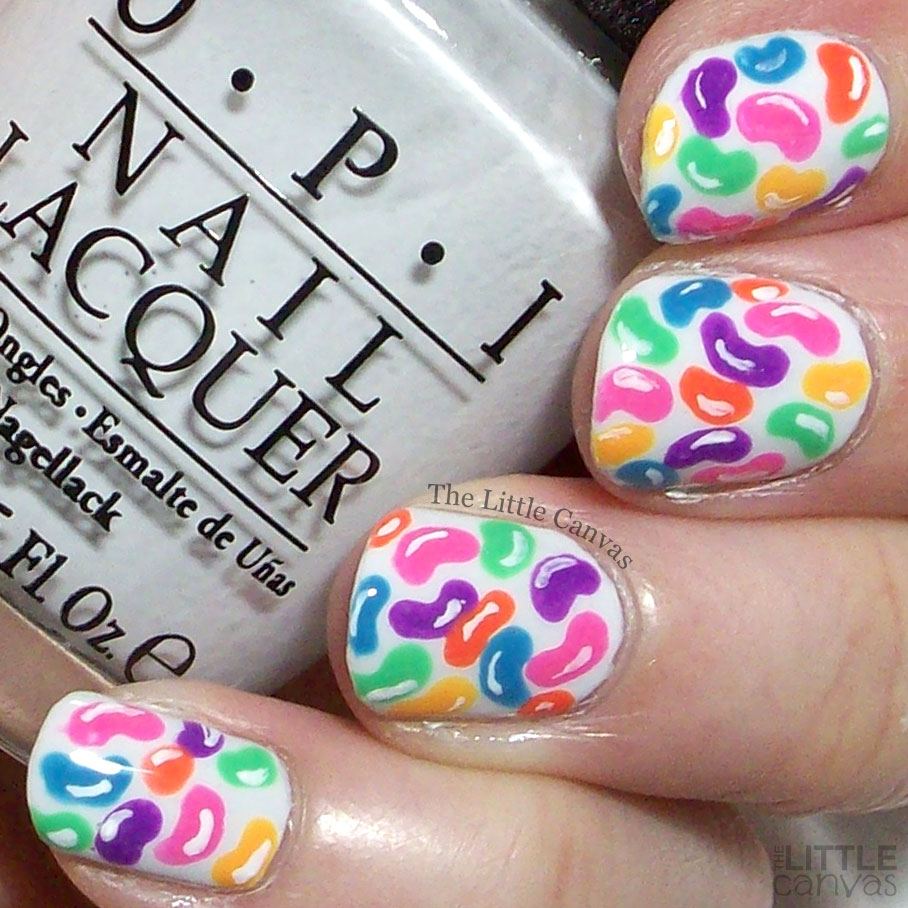 The One With the Jelly Bean Nail Art - The Little Canvas