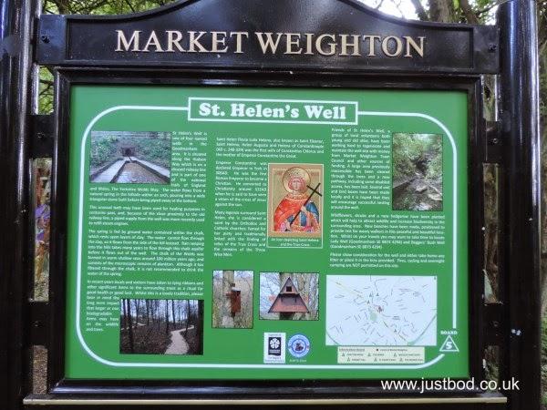 Sign at St Helen's Well, Goodmanham, East Yorkshire