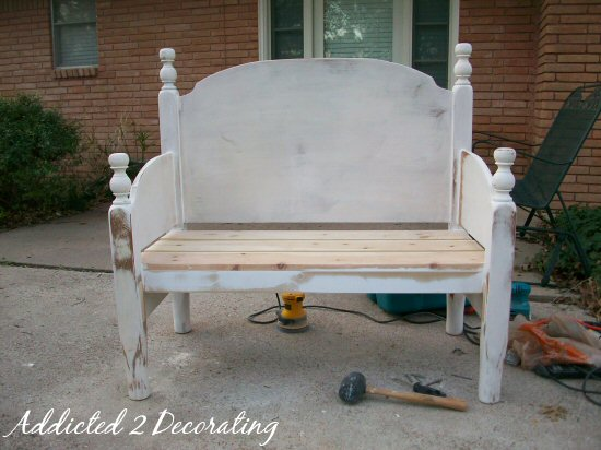 Bench Made From Headboard Footboard