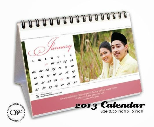 warna inspirasi Personalized Calendars