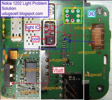 Analysis Of Mobile Schematic Light Lcd And Keypad Light On Nokia 1202