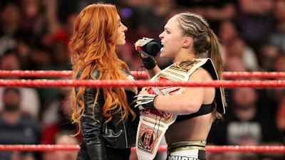 Becky Lynch Ronda Rousey WWE Monday Night Raw WrestleMania 35