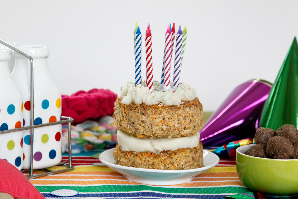 Layered Meatloaf Dog Birthday Cake