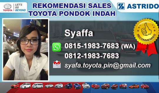 Rekomendasi Sales Toyota Pondok Indah, Jakarta Selatan
