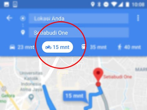 3 Fitur Baru (CFD, Ganjil Genap, Sepeda Motor) Google Maps Dan Cara Menggunakannya