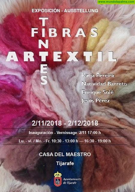 Exposición de artesanía en la Casa del Maestro de Tijarafe