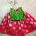 Pink Green Benaras Lehenga
