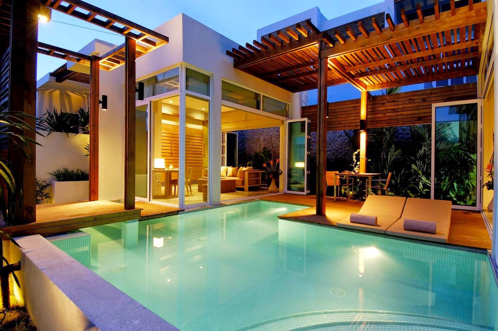 Rumah Minimalis 1 Lantai Ada Kolam Renang Desain Rumah Minimalis