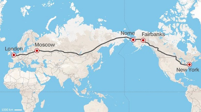 Superhighway That Would Let You Drive From New York To London Proposed By Russia