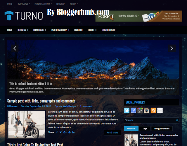 Turno Blogger Template Free Download