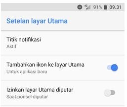 Cara Mengaktifkan Screen Mode  Android Landscape
