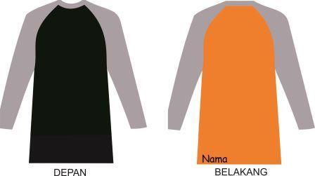 Download 31+ Template Kaos Lengan Panjang 2 Warna Cdr