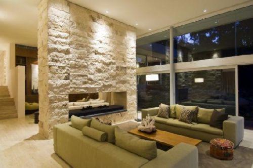 Decoraci n minimalista y contempor nea ejemplos de muros for Idea decorativa sala de estar pequeno espacio