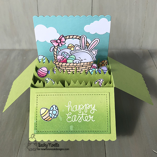 Happy Easter by Becky by Newton's Easter Basket and Land Borders by Newton's Nook Designs; #newtonsnook