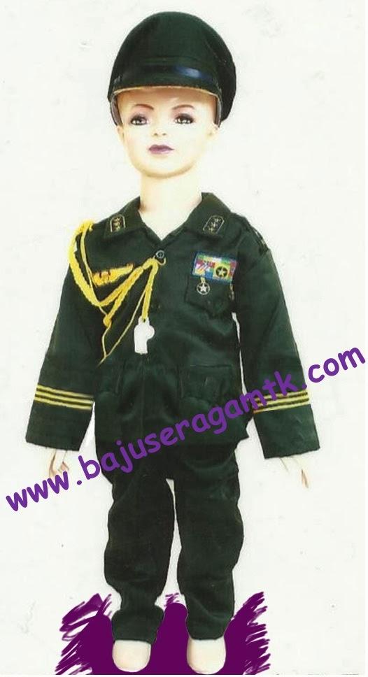 jual kostum anak baju profesi anak angkatan darat AD