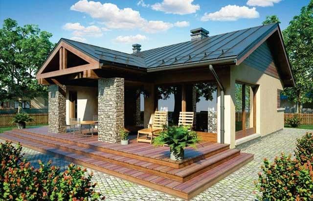 Plano y fachada de casa chica de un nivel proyectos de casas - Fachadas de casas de un piso ...