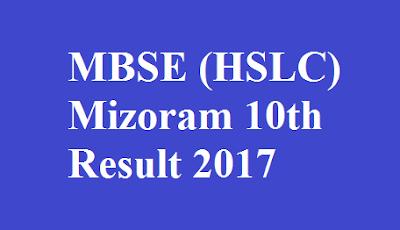 MBSE HSLC Mizoram 10th Result 2017