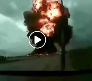 بالفيديو لحظة سقوط الطائرة العسكرية الجزائرية Iliouchine