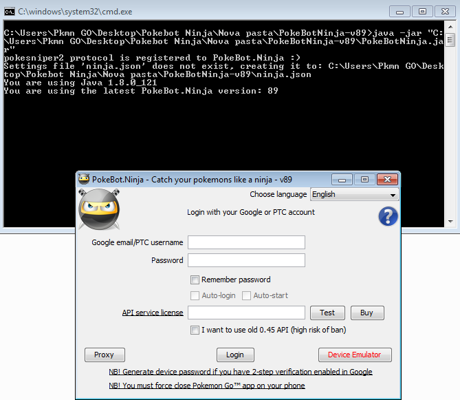Bot Pokemon GO Grátis Pokebot ninja - PC e Android + (Free Hash Keys
