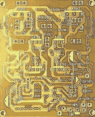 PCB Power Amplifier 750W Mono