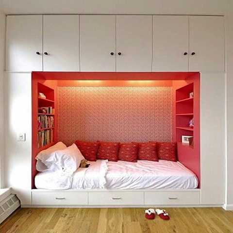 Are you looking for inspiration on how to decorate and organize your small bedrooms? How to fix your things in small apace? Check this fantastic space saving design ideas