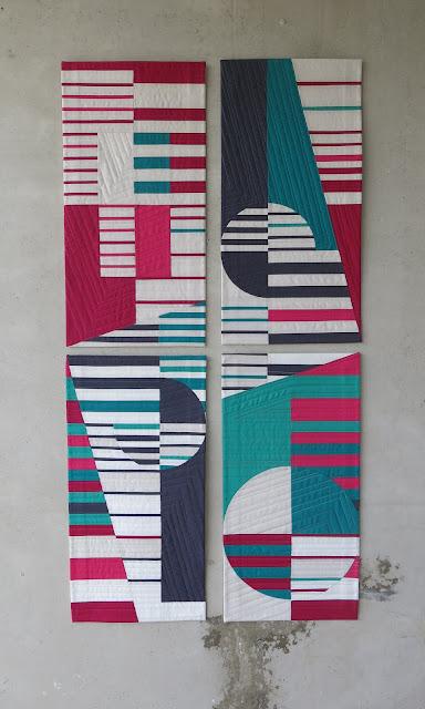 Luna Lovequilts - Ephémère - Four connected quilts - Alternative layout
