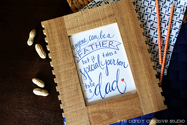 free father's day art print, framed art for dads, takes a special person to be a dad