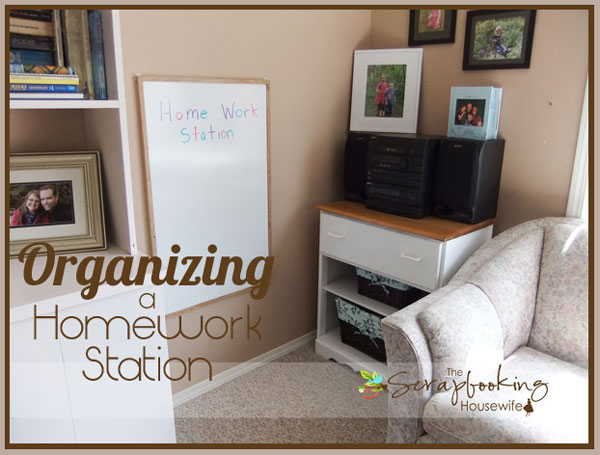 Organizing a Homework Station for Back to School from The Scrapbooking Housewife