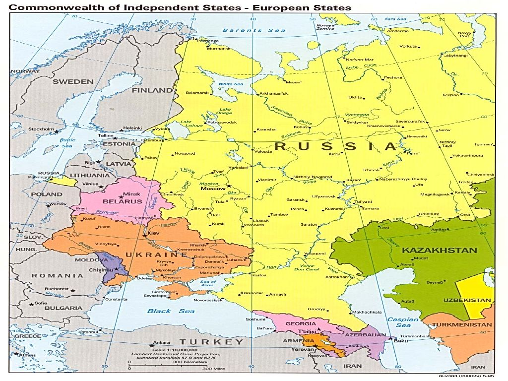 maps of russia and europe