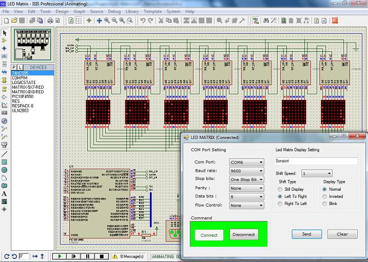 PIC Controller LED Matrix Display - Embedded Laboratory