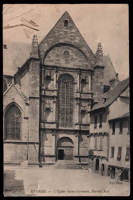 L'Église Saint-Germain, Portail Sud vers 1916