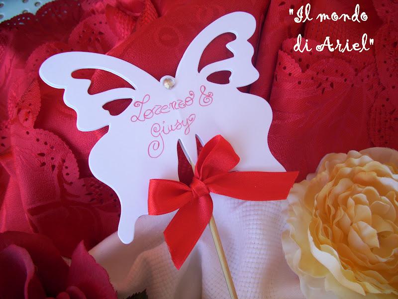 abbastanza il mondo di Ariel: segnaposto matrimonio tema farfalle! HA19