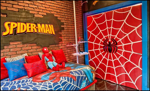 Spiderman Theme Bedroom Decorating Ideas