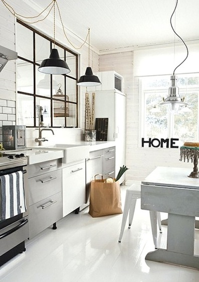 Country Style Chic: All White Country Kitchens