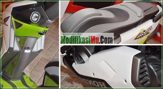 Jok 3 Dimensi SUspensi Shok Becker Upside Down Dan Ban Ukuran 120 140 - Cara Modifikasi All New Honda Beat PGM FI Putih Simpel Futuristik.jpg