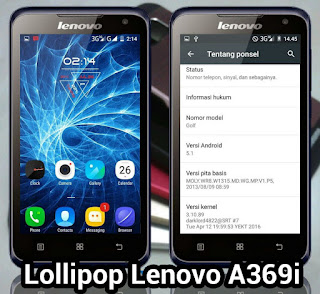 Update Lenovo A369i Lolipop Flash Via Flashtool