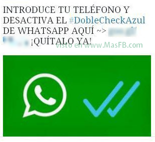 Desactiva el doble check azul whatsapp