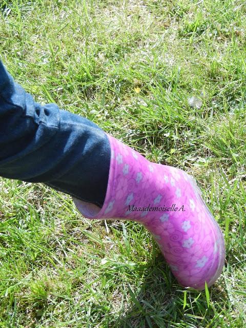 Bottes de pluie enfant rose - Chaussea