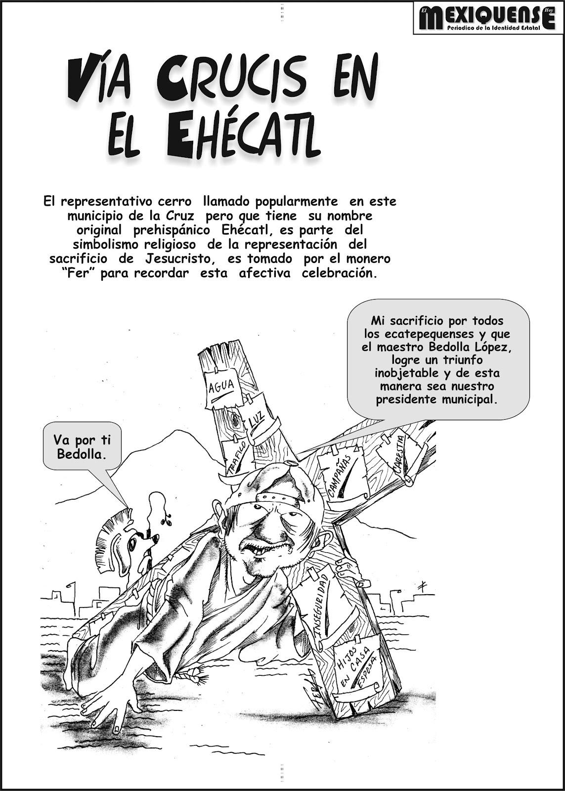 El mexiquense Hoy: Vía Crucis en el Ehécatl