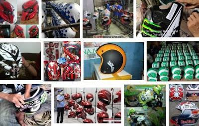 pusat industri pembuatan perakitan suplier helm di jakarta barat