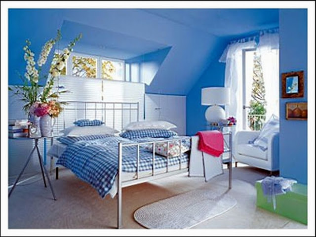 Home Interior Decorating Blue Bedroom Paint Color Ideas