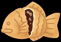 たい焼きのイラスト(チョコレート)