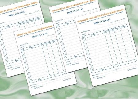In hóa đơn bán lẻ giá rẻ tphcm nhận in hóa đơn bán lẻ 2 liên 3 liên