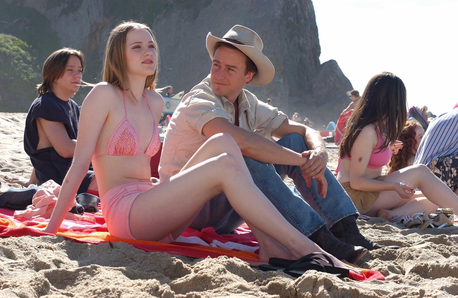 Naked white teen girls bend over